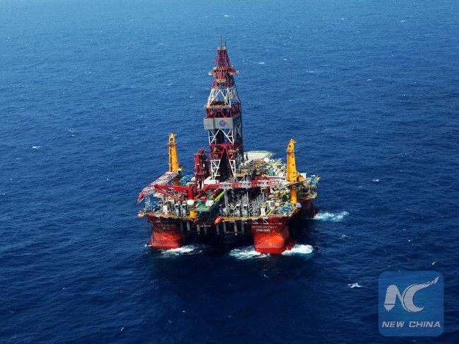 China's largest producer of offshore oil and gas CNOOC reports its first deepwater gasfield discovery below the South China Sea. [File Photo: Xinhua]