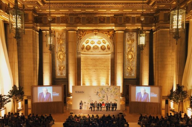 Whittle School & Studios global launch event is held in Andrew W. Mellon Auditorium. [Photo provided to China Plus]