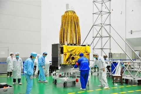 The relay satellite Queqiao [File photo: China Academy of Space Technology]