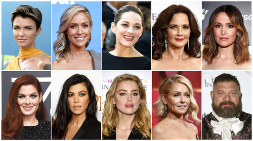 "This combination photo shows, top row from left, Ruby Rose, Kristin Cavallari, Marion Cotillard, Lynda Carter, Rose Byrne, bottom row from left, Debra Messing, Kourtney Kardashian, Amber Heard, Kelly Ripa and Brad William Henke who are likely to land users on websites that carry viruses or malware. Cybersecurity firm McAfee crowned Rose the most dangerous celebrity on the internet. Reality TV star, Cavallari finished behind Rose at No. 2, followed by Cotillard (No. 3), the original ""Wonder Woman"" Carter (No. 4), Byrne (No. 5), Messing (No. 6), reality TV star Kardashian (No. 7), actress Heard (No. 8), morning TV show host Ripa (No. 9), and actor Henke as No 10. [Photo: AP]"