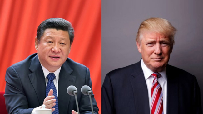 Chinese President Xi Jinping and his U.S. counterpart Donald Trump.
