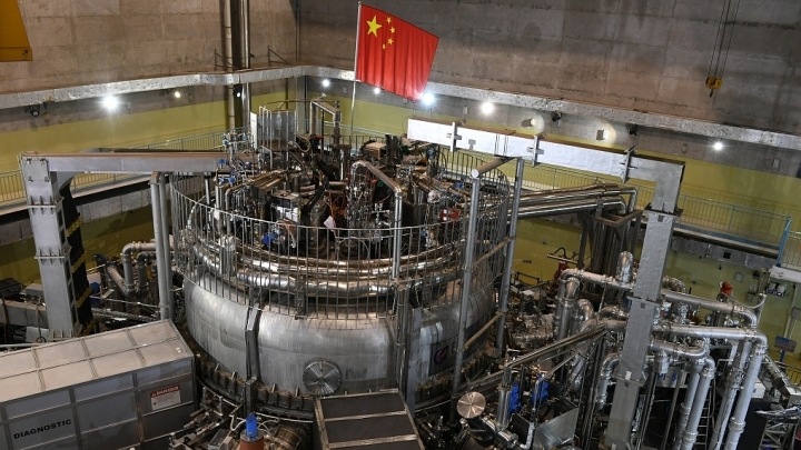 """Chinese """"artificial sun"""" hits 100 million degrees"""