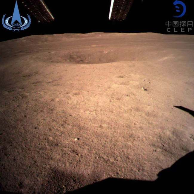 "The world's first close-up image of the far side of the Moon sent back by China's Chang'e-4 relay satellite ""Queqiao"" [Photo: CLEP]"