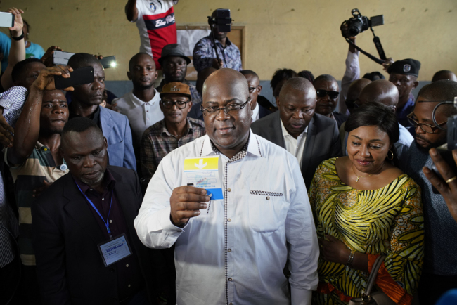 Opposition presidential candidate Felix Tshisekedi casts his ballot in Kinshasa, Sunday Dec. 30, 2018. [File photo: AP/Jerome Delay]