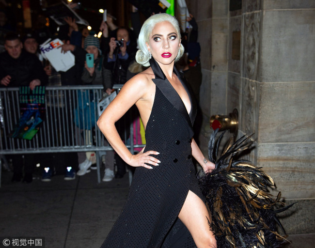 Lady Gaga at the 2019 National Board of Review Awards Gala on January 8, 2019 in New York City. [Photo: VCG]