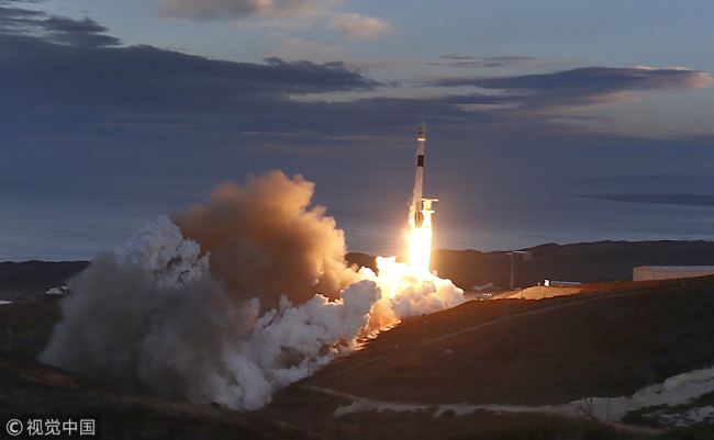 A SpaceX rocket delivered 10 satellites to low-Earth orbit on Jan. 11th. [Photo: VCG]