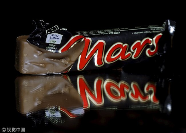 Mars bars are seen in this picture illustration taken February 23, 2016. [Photo: VCG]