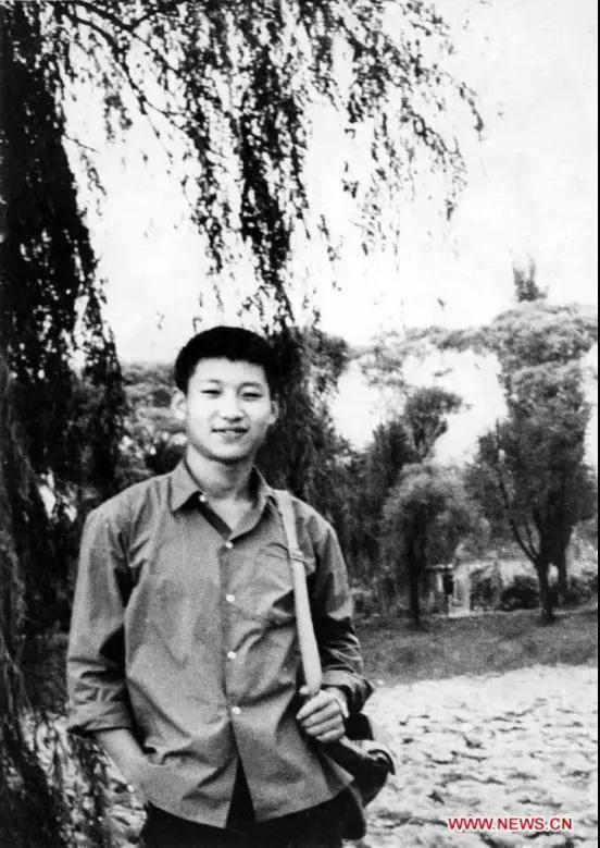 File photo of Xi Jinping in 1972. [Photo: Xinhua]