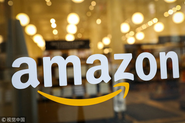 This photo shows the Amazon.com Inc. logo. [File Photo: VCG]