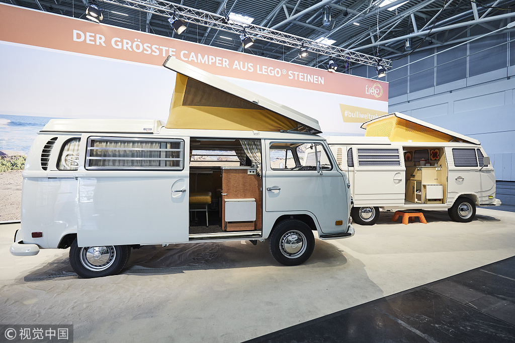 3317b3f70a Full-size Lego camper van unveiled at travel fair in Germany - China ...