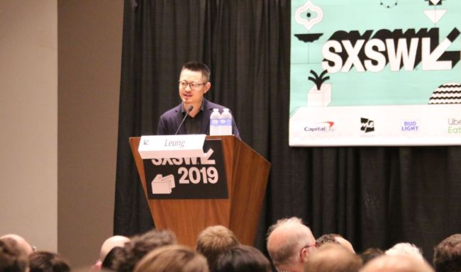 Alipay Design Director Shanying Leung gives a speech at the 2019 South by Southwest Conference in Austin, Texas on March 8th, 2019. [Photo: ChinaPlus]