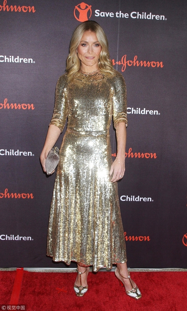 Kelly Ripa joins a charity gala on November 14, 2018 in New York. [File Photo: VCG]