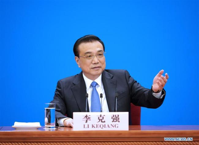 Chinese Premier Li Keqiang meets the press after the conclusion of the second session of the 13th National People's Congress (NPC) at the Great Hall of the People in Beijing, capital of China, March 15, 2019. [Photo: Xinhua/Xing Guangli]