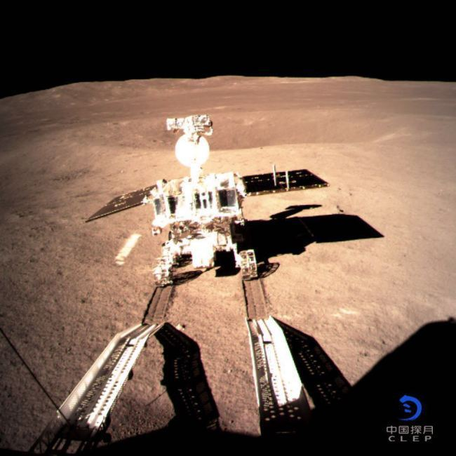 The Yutu-2 rover is separated from the Chang'e-4 lander, Jan. 4, 2019. [File Photo: CNSA]