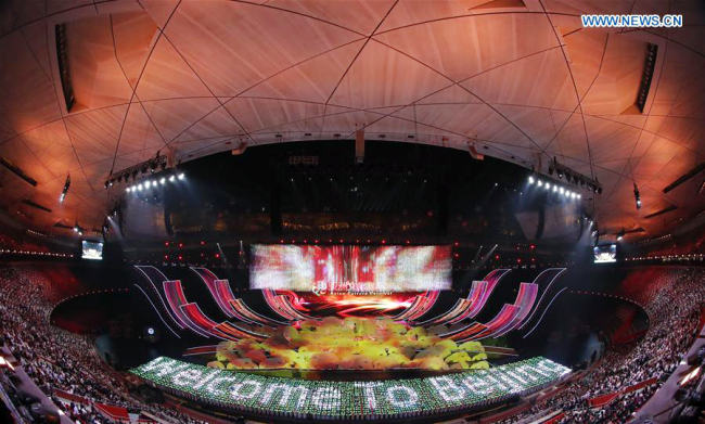 The Asian Culture Carnival is held during the Conference on Dialogue of Asian Civilizations (CDAC) at the National Stadium, or the Bird's Nest, in Beijing, capital of China, May 15, 2019. [Photo: Xinhua/Shen Bohan]