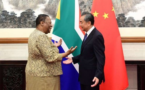 Chinese State Councilor and Foreign Minister Wang Yi meets with South African Foreign Minister Naledi Pandor in Beijing, June 24, 2019. [Photo: fmprc.gov.cn]