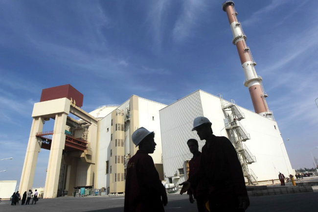 Photo taken on October 26, 2010 shows a reactor building at the Russian-built Bushehr nuclear power plant in southern Iran, 1,200 kms south of Tehran. [File photo: AFP]