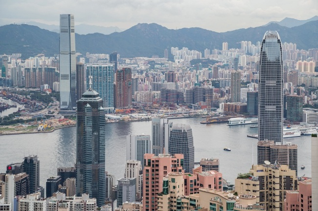 Panorama of Hong Kong, Kowloon and Victoria Harbour, Hong Kong. [File Photo: IC]