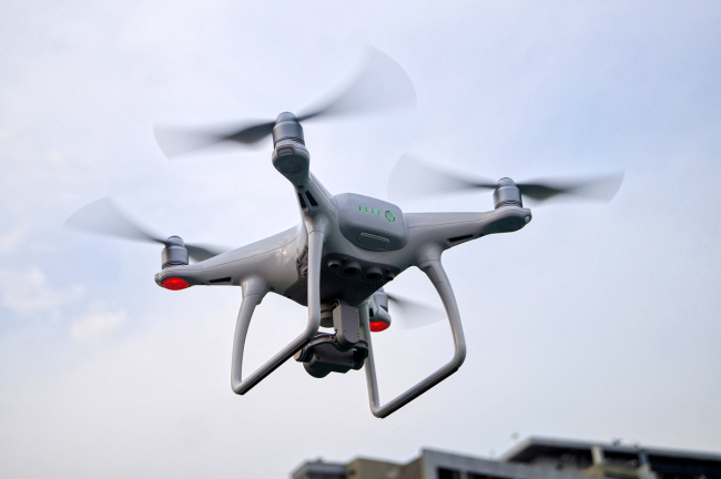 A drone produced by China's DJI. [File photo: VCG]