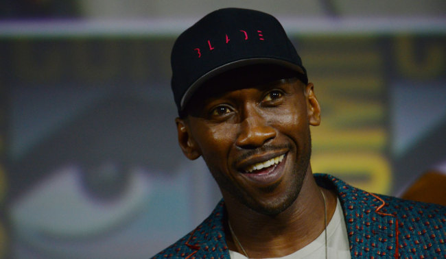 Mahershala Ali is introduced as the latest Marvel Superhero Blade during the Marvel Panel in Hall H during day 3 of 2019 Comic-Con in San Diego, Ca, July 20, 2019, in San Diego. [Photo: IC]