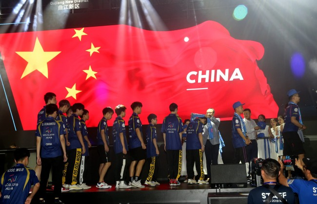 China claim four titles out of six at the 2019 World Cyber