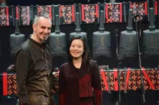 Robert Zollitsch, a German composer and producer of Chinese art music and his wife Gong Linna, a famous Chinese singer.[Photo provided by Gong and Luo Music Studio]