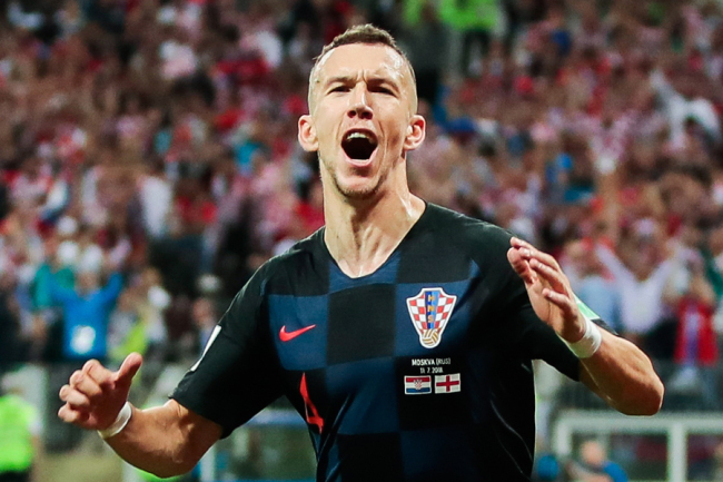 Croatia's Ivan Perisic celebrates scoring against England in their 2018 FIFA World Cup semi-final match at Luzhniki Stadium in Moscow, Russia on Jul 11, 2018. [Photo: IC]