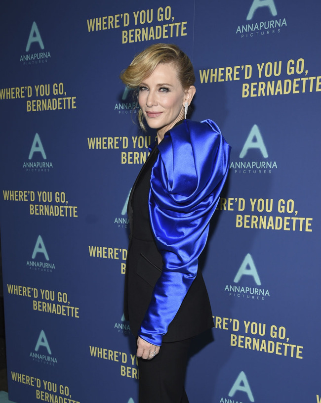 "Actor Cate Blanchett attends a special screening of ""Where'd You Go, Bernadette"" at Metrograph on Monday, Aug. 12, 2019, in New York. [Photo: IC]"