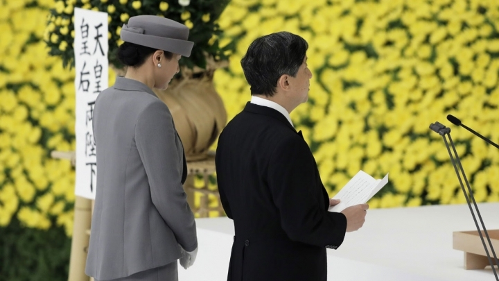 "Japan marks 74th anniversary of surrender in WWII, emperor expresses ""deep remorse"""