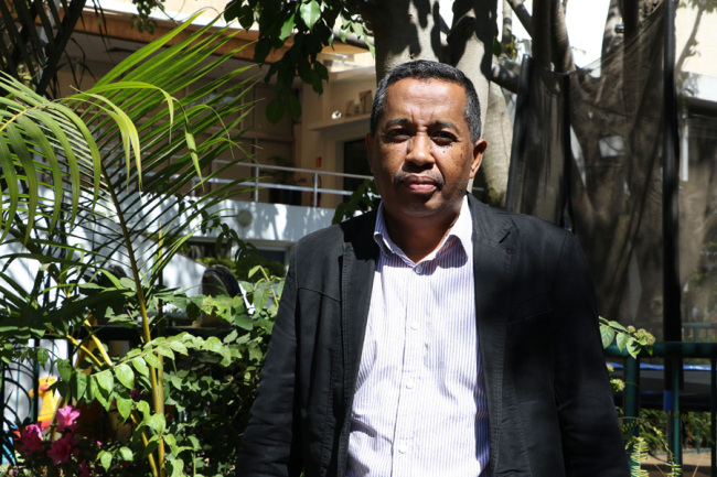 Mamisoa Ramananjanahary, national coordinator of the South-South Cooperation Project at the Ministry of Agriculture, Livestock and Fisheries in Madagascar, takes an interview with China Radio International on August 14, 2019. [Photo: China Plus/Gao Junya]