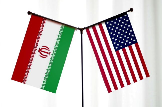National flags of Iran and the United States. [File Photo: IC]