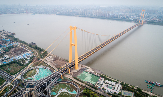 The Yangsigang Yangtze River Bridge opens to traffic in Wuhan, Hubei Province on October 8, 2019. [Photo: IC]