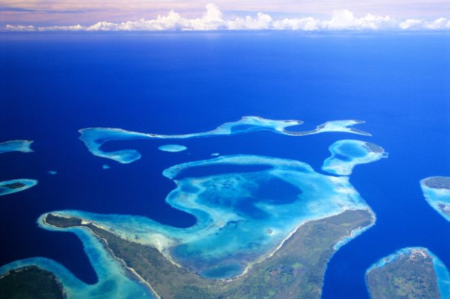 An aerial view of the Solomon Islands. [File Photo: IC]