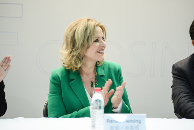 Renowned American soprano Renee Fleming speaks ahead of her concert on Monday which marks the conclusion of the Beijing Music Festival.[Photo provided to China Plus]
