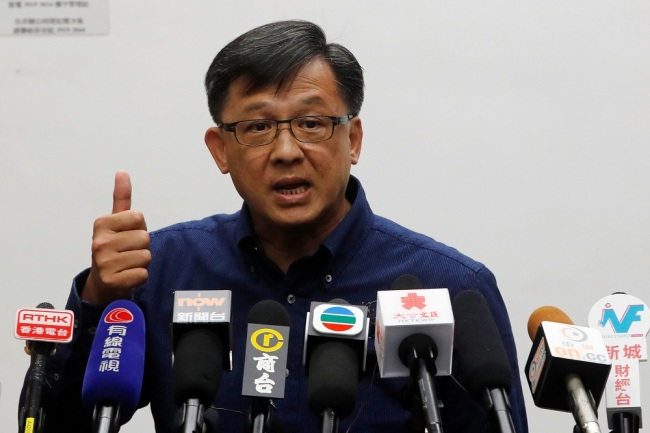 Lawmaker Junius Ho Kwan-yiu speaks during a news conference in Hong Kong, China July 22, 2019. [File Photo: VCG]
